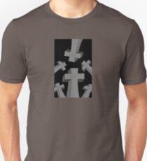 Spooky Scary Graveyard Headstones Unisex T-Shirt