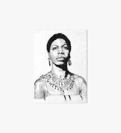 Nina Simone Portrait Famous Jazz Musician  Art Board Print