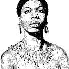Nina Simone Portrait Famous Jazz Musician  by tqueen