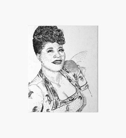 Ella Fitzgerald Famous Jazz Musician Art Board Print