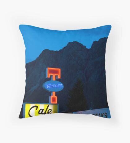 Twin Peaks Diner Throw Pillow