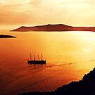 Romantic views of Santorini at sunset by Seller2018KF