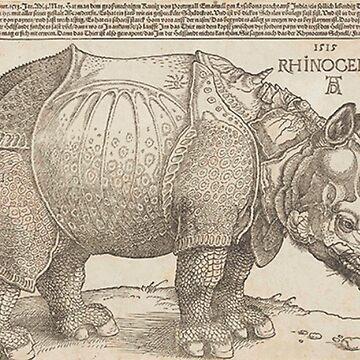 Dürer's Rhinoceros by TOMSREDBUBBLE