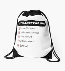 Sagittarius Traits Astrology Horoscope Birth Sign Drawstring Bag
