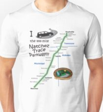 I drove the Natchez Trace Parkway. Slim Fit T-Shirt