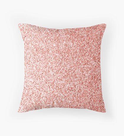 Living coral light glitter sparkles Throw Pillow