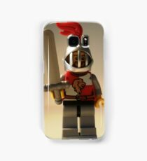 Lion Knight Quarters, Helmet with Fixed Grille Samsung Galaxy Case/Skin