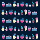 Funky Cacti Dark by abbilaura