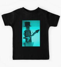 Emo, Goth, Punk, Band Guitarist Custom Minifigure Kids Tee