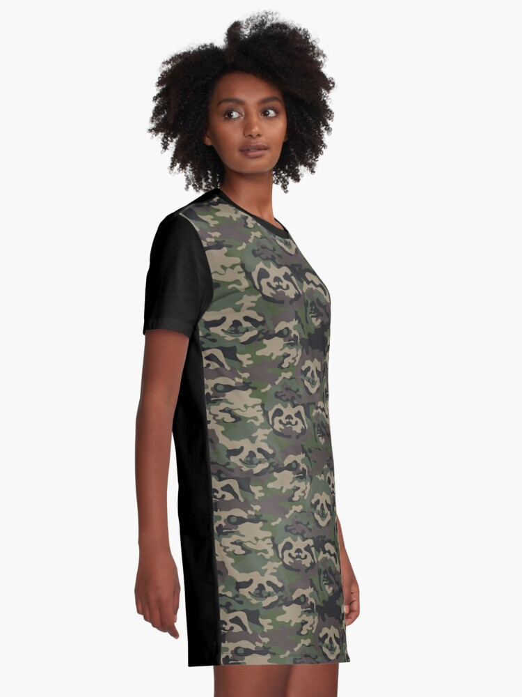 Alternate view of Sloth Camouflage Graphic T-Shirt Dress