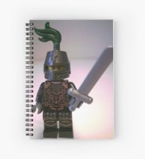 Dragon Knight with Chain Mail & Helmet Minifigure Spiral Notebook