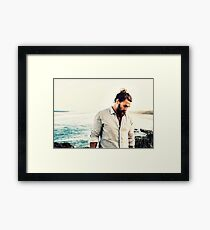 Jason Momoa, Good vibes, Beach, Sunshine, Ocean, Filter, Good vibes, Cool, Blue, Aqua blue, Gift, Present, Ideas, Summer, Spring Framed Print