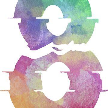 The Number 8 Eight Broken Rock Typography Tshirt by divotomezove