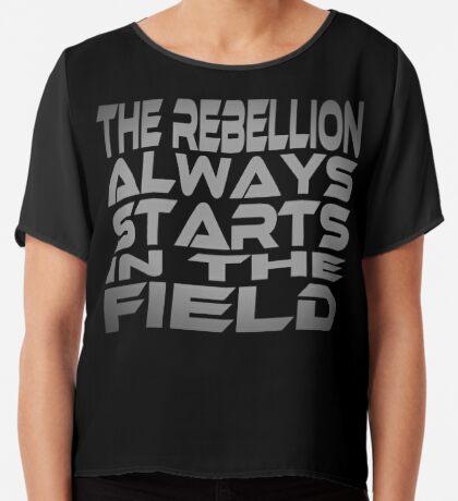 The Rebellion Always Starts in the Field Women's Chiffon Top