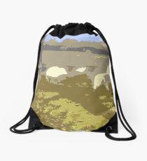 Cut Out Sheep Drawstring Bag