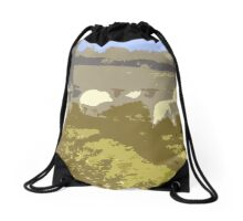Cut Out Sheep Drawstring Bag