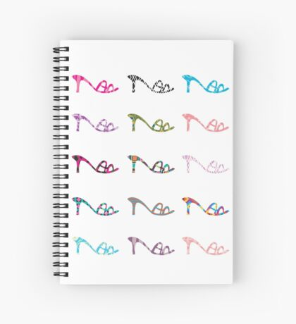 Pattern Shoes Spiral Notebook