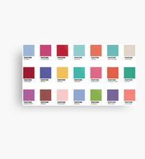 Pantone - Farben des Jahres (2000-2019) - Set von 21 Aufklebern Metalldruck