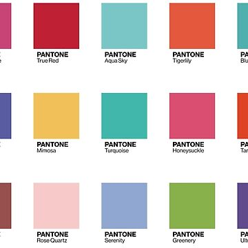 Pantone - Colors of the Year (2000-2019) - Set of 21 stickers by ChloeFortin15