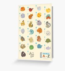 Animal Alphabet A-Z Greeting Card
