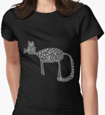 Katzen Liebe Tailliertes T-Shirt