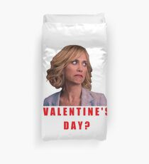 Bridesmaids, Valentine's day, Galentine's day, Best friends, good vibes, crazy, cool, roll eyes, sarcasm, irony, geek, forever alone, present, gift, ideas Duvet Cover
