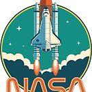 NASA Vintage Space Shuttle Logo by ericbracewell