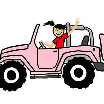 Jeep Wave Pink - Side View by indicap