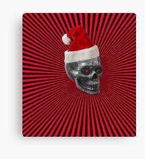 metal skull in cap Canvas Print