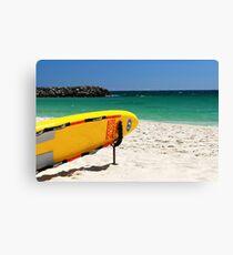 lifeguard surfboard Canvas Print