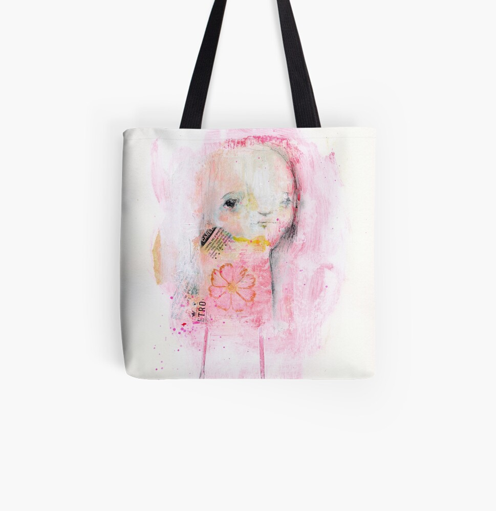 Red Simplicity All Over Print Tote Bag