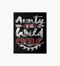 Aunty of the Wild One Shirt Lumberjack Woodworker Sawdust Buffalo Plaid measure once plaid pajamas cabinet maker contractor wood timber working tools Galeriedruck