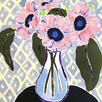 Whimsical Vase of Flowers Painting by JillLouise
