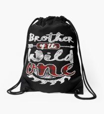 Brother of the Wild One Shirt Lumberjack Woodworker Sawdust Buffalo Plaid measure once plaid pajamas cabinet maker contractor wood timber working tools Rucksackbeutel