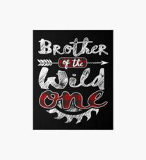 Brother of the Wild One Shirt Lumberjack Woodworker Sawdust Buffalo Plaid measure once plaid pajamas cabinet maker contractor wood timber working tools Galeriedruck