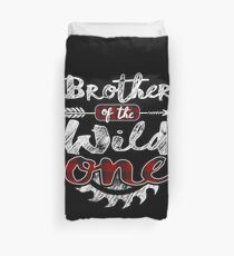 Brother of the Wild One Shirt Lumberjack Woodworker Sawdust Buffalo Plaid measure once plaid pajamas cabinet maker contractor wood timber working tools Bettbezug