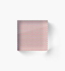 Red Gem Pattern Acrylic Block