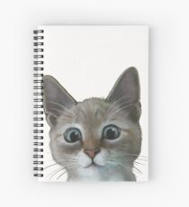 happy cat Spiral Notebook