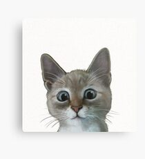 happy cat Metal Print