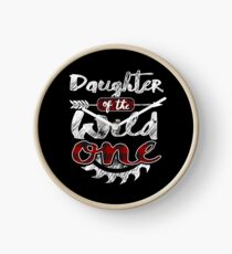 Daughter of the Wild One Shirt Lumberjack Woodworker Sawdust Buffalo Plaid measure once plaid pajamas cabinet maker contractor wood timber working tools Uhr