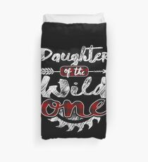 Daughter of the Wild One Shirt Lumberjack Woodworker Sawdust Buffalo Plaid measure once plaid pajamas cabinet maker contractor wood timber working tools Bettbezug