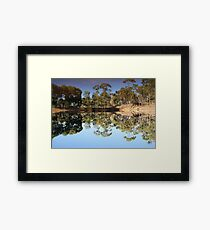 Mirror Mirror on the land Framed Print