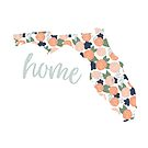 Floral is Home, Coral Floral Design by JordynAlison