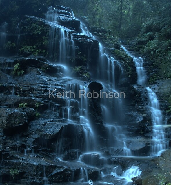 Empress Falls, Valley of the Waters, Blue Mountains by Keith Robinson