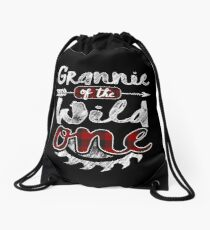 Grannie of the Wild One Shirt Lumberjack Woodworker Sawdust Buffalo Plaid measure once plaid pajamas cabinet maker contractor wood timber working tools Rucksackbeutel