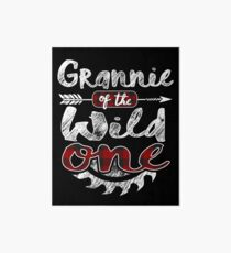 Grannie of the Wild One Shirt Lumberjack Woodworker Sawdust Buffalo Plaid measure once plaid pajamas cabinet maker contractor wood timber working tools Galeriedruck
