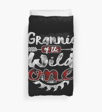 Grannie of the Wild One Shirt Lumberjack Woodworker Sawdust Buffalo Plaid measure once plaid pajamas cabinet maker contractor wood timber working tools Bettbezug