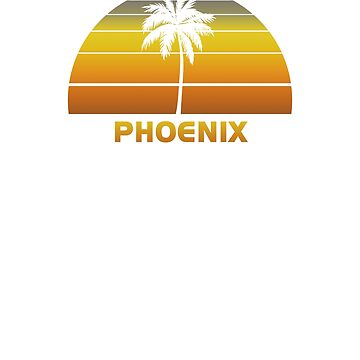 Vintage Phoenix Beach Palm Tree Sunset Cool Family Vacation Souvenir by hlcaldwell