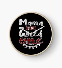 Mama of the Wild One Shirt Lumberjack Woodworker Sawdust Buffalo Plaid measure once plaid pajamas cabinet maker contractor wood timber working tools Uhr