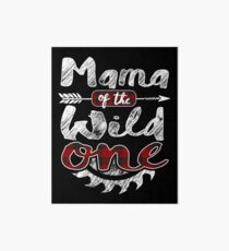 Mama of the Wild One Shirt Lumberjack Woodworker Sawdust Buffalo Plaid measure once plaid pajamas cabinet maker contractor wood timber working tools Galeriedruck